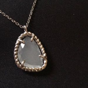 Jewelry - NWOT Sweet and delicate milky quartz in sterling